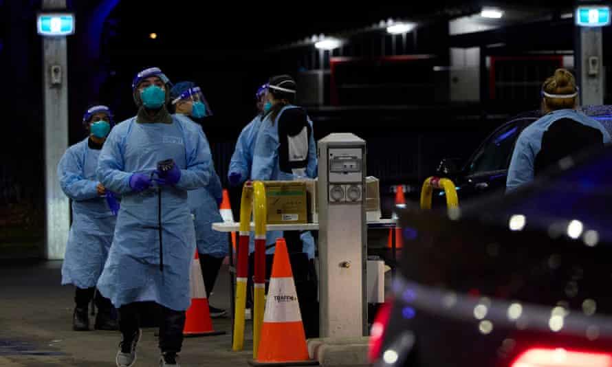 Coronavirus testing at Fairfield showground