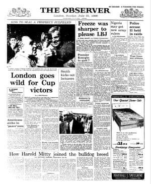 31 July 1966. England wins the World Cup...but let's not get too excited: there's plenty more going on in the world.