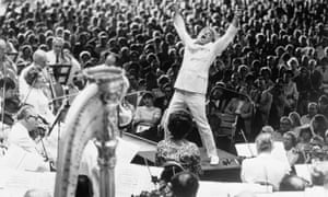 That Mahler feeling … Leonard Bernstein conducting the Boston Symphony Orchestra at Tanglewood in 1970.