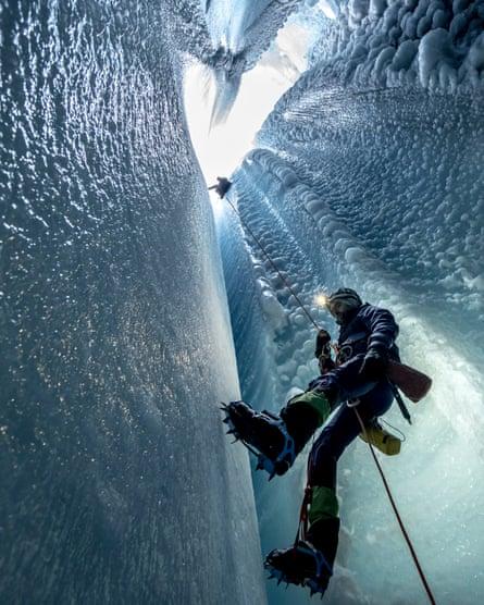 The iceman cometh: ice core sampling in Greenland.