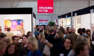 The Affordable Art Fair in Battersea Park, London.