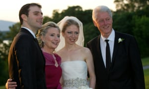 Hillary and Bill Clinton with their daughter Chelsea on the day of her wedding to Marc Mezvinsky in 2010.