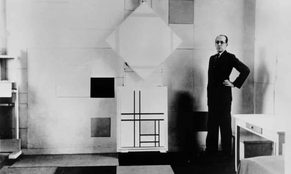 Mondrian in his Paris studio in 1933.