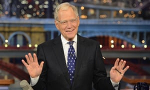 David Letterman during his final Late Show appearance in May