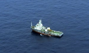 Ship searching for MS804 wreckage