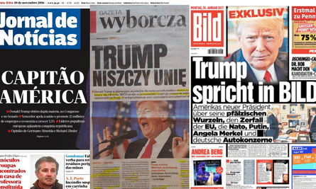 Trump coverage in Portugal, Poland and Germany.