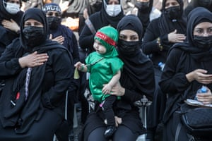Women take part in mourning rituals to commemorate Ashura during the Islamic month of Muharram on 29 August, 2020 in Istanbul, Turkey.