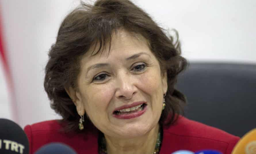 Sihem Bensedrine, the president of Tunisia's truth and dignity commission.