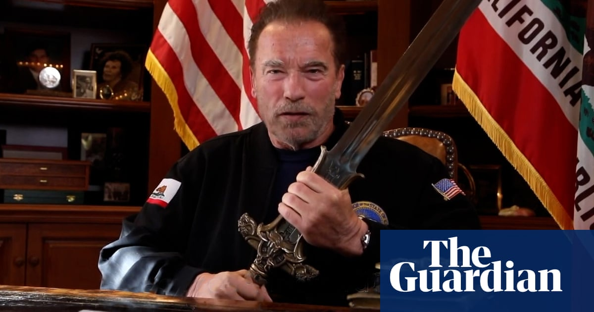 Schwarzenegger compares Capitol attack to Kristallnacht, brandishes sword – video