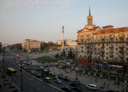 A view of Independence Square and the Khreschatyk in central Kiev.