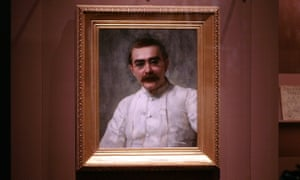 Painting of Lockwood Kipling (by John Collier 1837-1911) in V&A exhibition