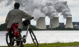 Water steam rises from the cooling towers of a brown coal power station in Germany. Such plants with a capacity of 2.7GW will be mothballed.