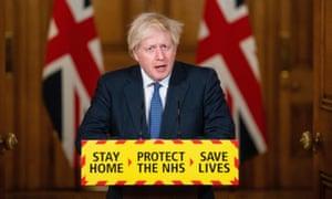 Boris Johnson holds media briefing on coronavirus pandemic.