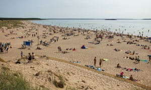 Yyteri Beach in Pori, Finland