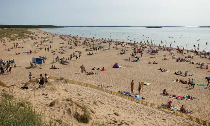 Yyteri Beach in Pori, Finland
