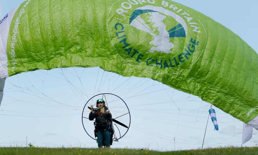 Sacha Dench is embarking on the flight in an electric paramotor