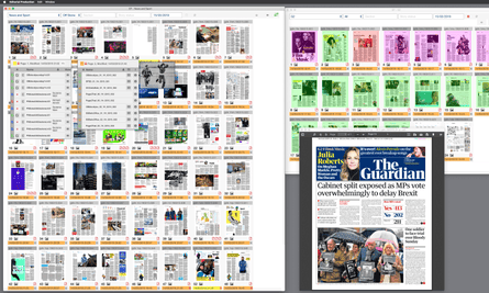 A screen grab of the Editorial Production app