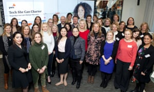 Women gathered at the Tech She Can charter launch in London