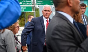 Vice-President Mike Pence arrives in Doonbeg to dine with relatives at a seafood restaurant.