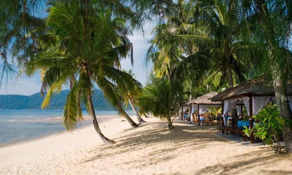 Sandy beach at Berjaya Resort