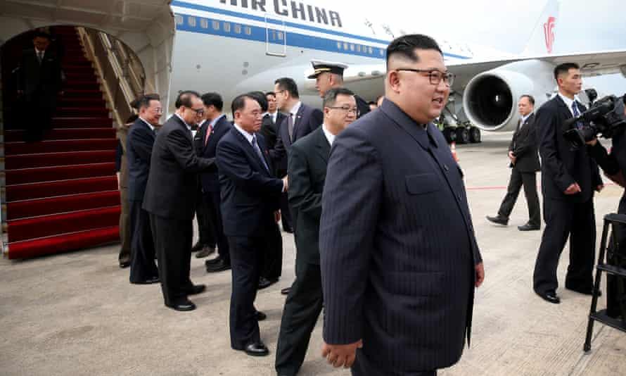 North Korean leader Kim Jong-un arrives in Singapore on Sunday