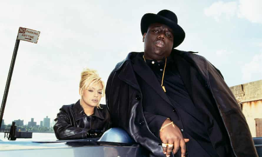 Rap royalty … Faith Evans and Notorious BIG.