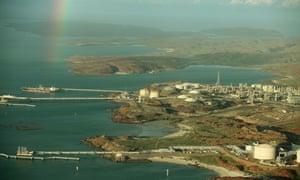 A natural gas platform on the north-west shelf of Western Australia