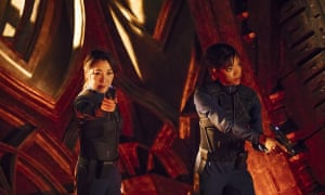 'Rather good': Michelle Yeoh, left, and Sonequa Martin-Green in Star Trek: Discovery.