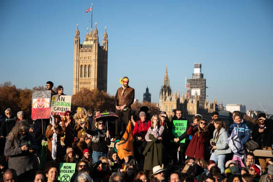 XR activists blocked five bridges in London last November