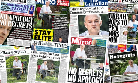 'Stay elite': what the papers say about Dominic Cummings' refusal to quit
