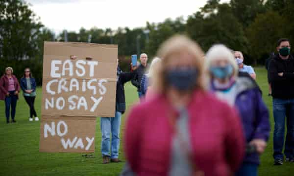 East Craigs residents at a meeting with Edinburgh council representatives and politicians to discuss the temporary LTN