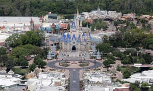 Disney World in Florida closed and empty due to the coronavirus pandemic.