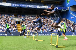 Chelsea held an open training session at Stamford Bridge on Wednesday.