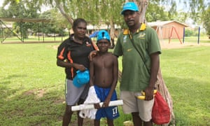 Trenton Cunningham, now 10, with his mother and father. Trenton suffers rheumatic heart disease and has had open-heart surgery