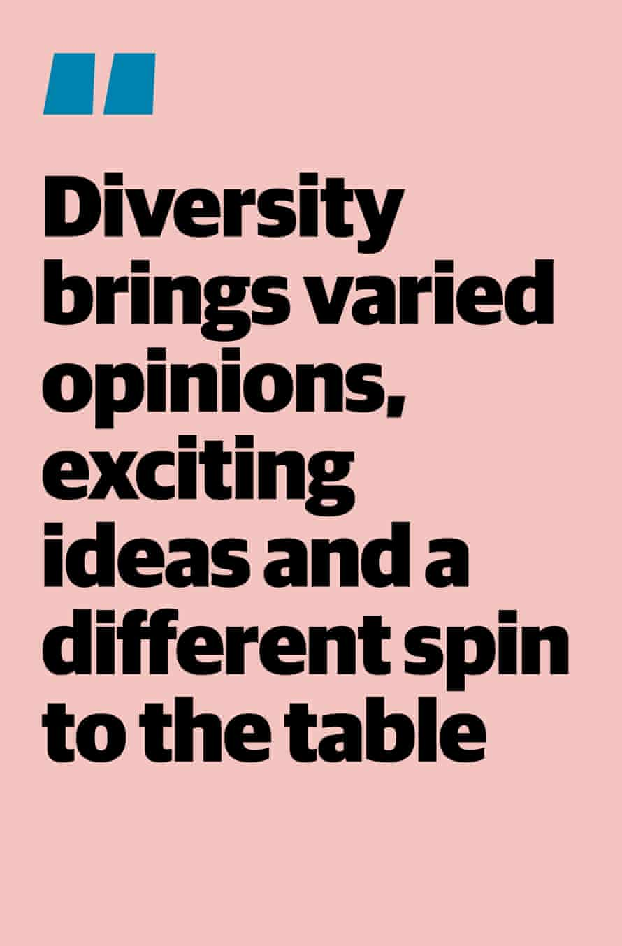 """Quote: """"Diversity brings varied opinions, exciting ideas and a different spin to the table"""""""
