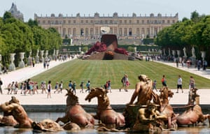 Dirty Corner displayed in the gardens of the Chateau de Versailles, one of the symbolic places in the French republic.