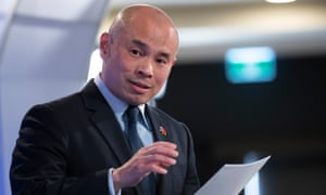 Wang Xining told the National Press Club the Chinese people had seen Australia's call for an inquiry into the origins of coronavirus as 'shocking'.