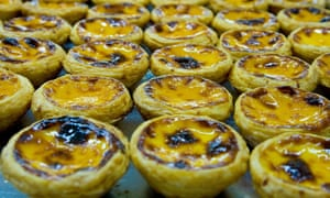 A tray of pastel de nata at Lord Stow's Bakery