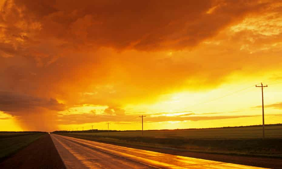The great open road in Manitoba, Canada.