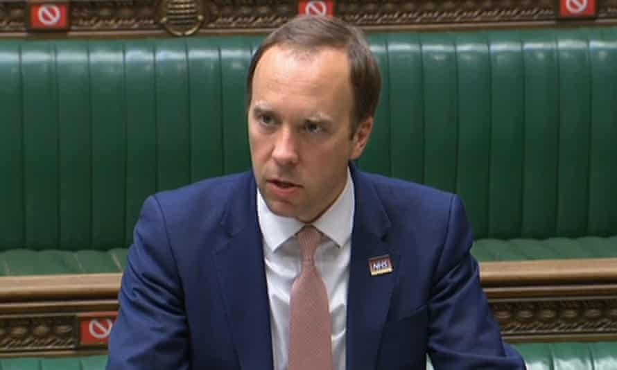 Health Secretary Matt Hancock makes a statement in the Commons about the pandemic.