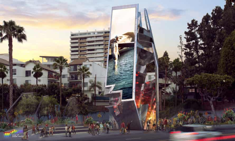 For whom the belltowers: artist's rendering of the Weho Belltower