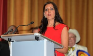 Labour's Rosena Allin-Khan speaks after winning the Tooting byelection at Wandsworth town hall