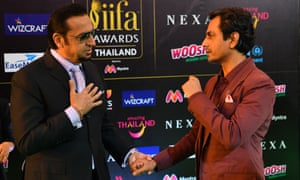 Actors Gulshan Grover and Nawazuddin Siddiqui arrive at last year's IIFA awards.
