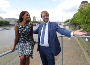 Pro-EU campaigner Gina Miller and Lib Dem candidate George Turner