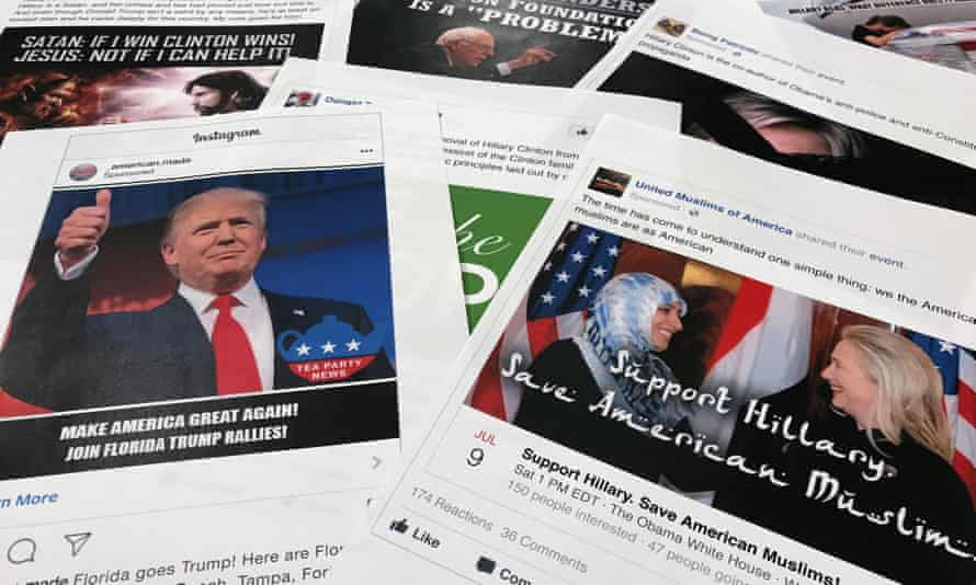 Facebook and Instagram ads that appeared during the 2016 presidential campaign