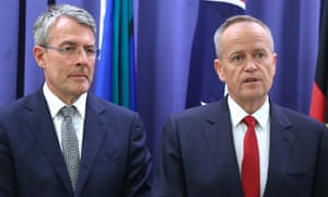 Opposition leader Bill Shorten and shadow attorney general Mark Dreyfus announce Labor will now support the encryption bill passing into law.