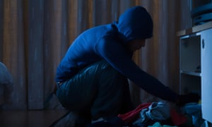 Burglars can spend as little as five minutes in the house before fleeing.