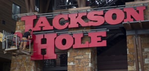 The sign at Jackson Hole Mountain Resort in Jackson, Wyoming.