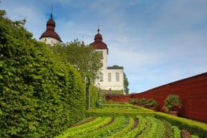The walled vegetable garden of Läckö Castle