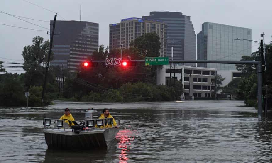Flooding in Houston, Texas, after Hurricane Harvey in 2017